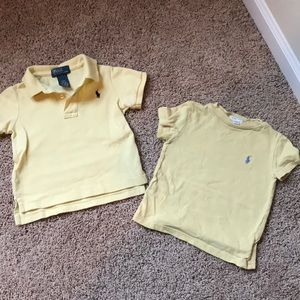 Tops - Yellow polo shirts for boys (12 months)